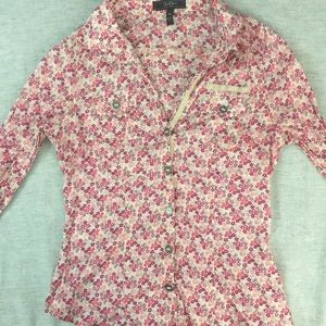 Jessica Simpson Floral Button Down